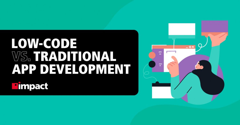 Infographic: Low-Code vs. Traditional Development